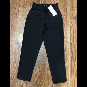 Zara silk cropped pants